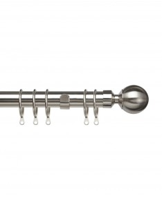 Curtain Pole Pristine Ball Satin Silver