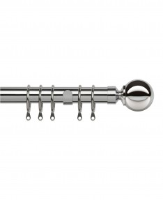 Curtain Pole Pristine Ball Chrome